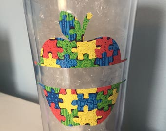 Autism Teacher Cup/ Teacher Gift/ Christmas Gift/ End of Year Gift