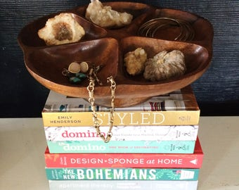 Wooden Divided Tray Jewelry Holder Organizer