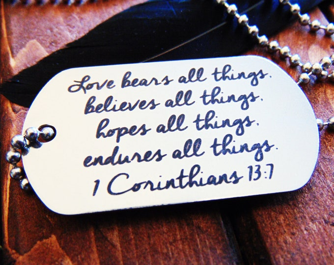 Actual Handwriting Dog Tag - Necklace or Keychain Option -  Signature Dog Tag - Easy Ordering-