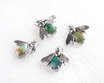 Pre- Order Don't Bug Me Turquoise Sterling Silver Pin Brooch
