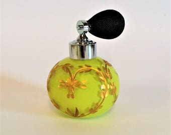 Handmade Perfume Bottle, Hearts & Flowers,