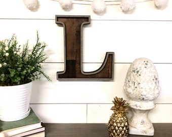 Reclaimed Wood Letter Cutout, Laser Cut Wood Letter Sign Wooden Letter Wall Decor, Marquee Style Wood Letter Cutout