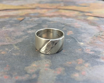 Wide modern style sterling silver band-modernist jewelry-size 4.5-sterling silver ring
