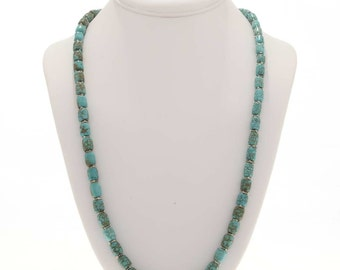 Native American Turquoise Necklace With Bali Beads
