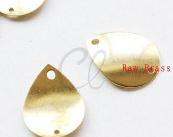 20pcs Raw Brass Tear Drop Link - 22.7x16.7mm (2013C-F-491)