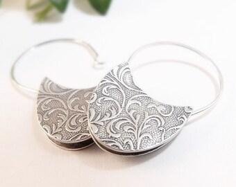 Sterling Silver Earrings, Floral Earrings, Petunia Dangle Earrings, Drop Earrings, Handmade In Seattle