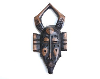 African mask, african art, wooden mask, african decor, africa, tribal mask, mask, home decor, tribal art, african, wood mask,vintage african