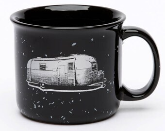 Retro Camper Trailer Coffee Mug - Ceramic Mug - Happy Camper