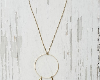 moonshadow - crescent moon necklace