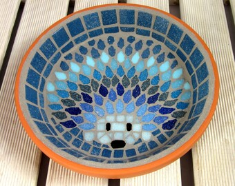 Moonlight Hedgehog Water Dish Saucer Wildlife 21cm Garden Yard Decoration