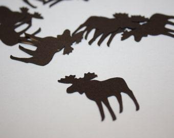 Moose Die Cut Confetti Table Decor 200 pieces