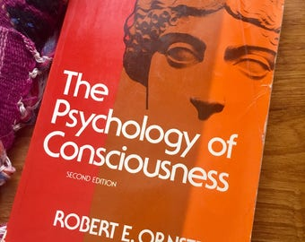 1970s vintage book the psychology of consciousness robert ornstein yoga meditation zen psychedelic zen spirituality mindfulness book 1977