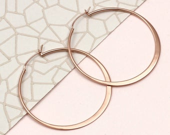 Contemporary Gold Hoop Earrings (HBE65)