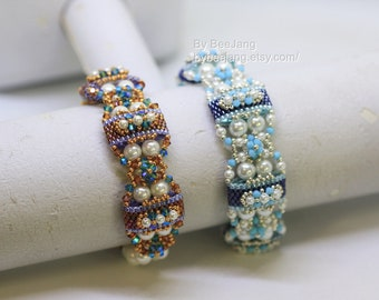 PDF Tutorial - Deepika Carrier Beads bracelet earrings Beading Instruction Beadweaving Pattern Tutorial