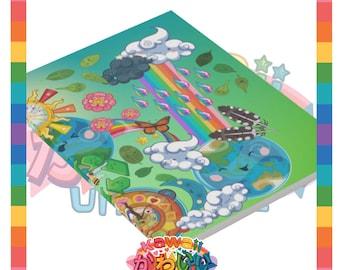 Kawaii Universe - Cute World Peace Showers Designer Notebook