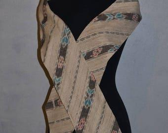 Vintage 80s Southwestern Western Digital print Pastel. Silk Sash obi wrap belt by CB Originals. VFG Extra wide. Deadstock item.