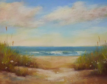 Serene Beach Dune SEASCAPE 18x24 Karen Margulis Florida Art
