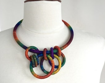 Textile Collar Necklace Canna