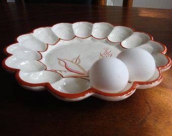 Winfield DRAGON FLOWER Deviled Egg Serving Plate!