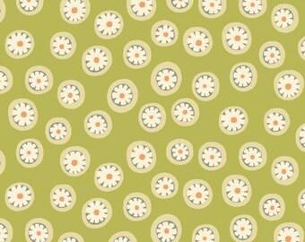 170403 Green Daisy Dots