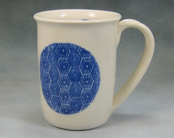 Coffee Mug 12 - 14 Ounce Blue and White Porcelain Coffee Mug Ceramic Mug Pottery Coffee Mug Hand Thrown Mug Unique Coffee Mug Pottery 28