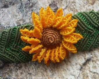 """Macrame sunflower bracelet """"Girasol"""""""