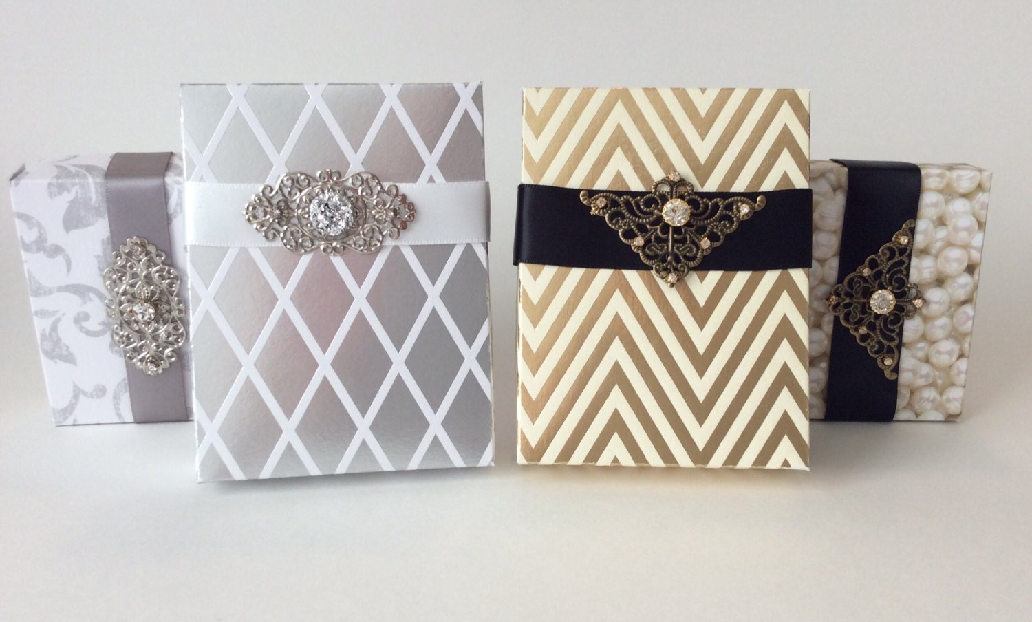10 Gold or Silver Party Favor Boxes
