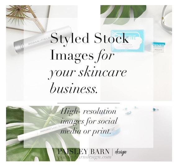 Styled Stock Skincare Collection | mini facial, Rodan+Fields, business card, mock up, redefine, marketing, branding, social media, promo