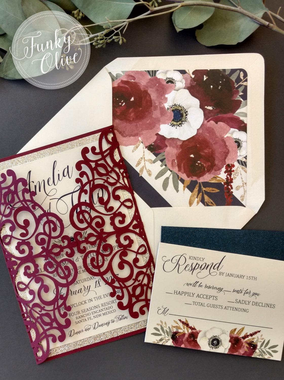 Modern Bespoke Custom Invitations Stationery by TheFunkyOlive