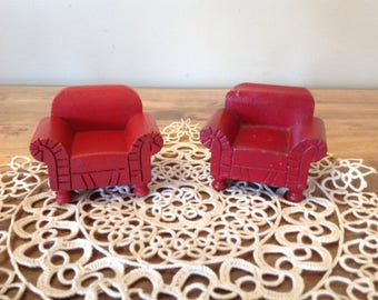 Pair of Strombecker Dollhouse Armchairs