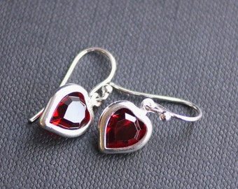 Heart Crystal Earrings- by I Heart This Jewelry