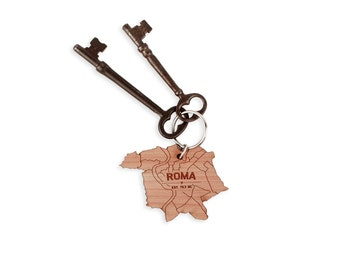 Roma Map Keychain