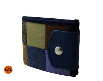 Handmade Patchwork Wallet, Newsboy Cap, Custom, Vegan Friendly, Vegan Leather, Mens Wallet, Womens Wallet, Cute Wallet - UNUSUAL MAKERS