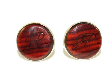 Cocobolo Wood Cufflinks