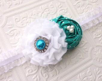 The Turquoise Temptation Headband or Hair Clip