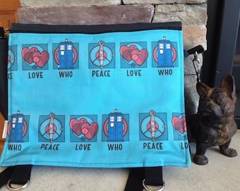 Doctor Who, Tardis inspired messenger bag