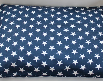"Modern Dog Bed Cover, Navy Blue with White Stars, Patriotic,  Pet Bed- Small (19"" x 25"")- Ready to Ship"