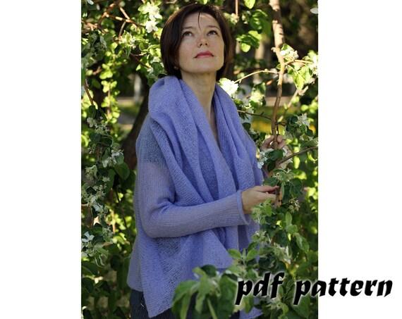 KNITTING PATTERN Women cardigan Knitting pattern Mohair cardigan ...