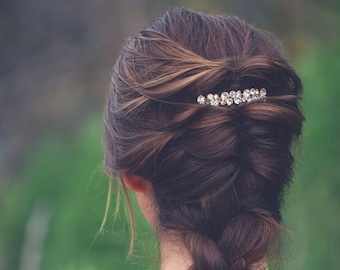Rose Gold Hair Comb,Rose Gold Rhinestone Crystal Bridal Hair Comb ,Rose Gold Wedding Comb, Crystal Wedding Hair Jewelry,Sparkle Hair Comb
