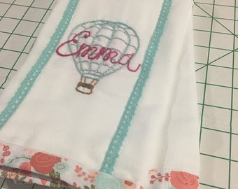 Custom Burp Cloth  Hand Embroidery