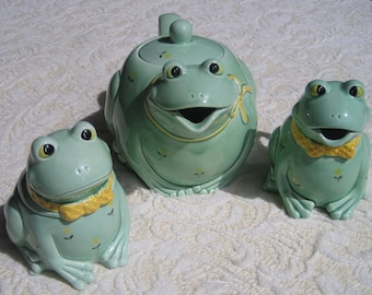 Otagiri Frog Teapot and Sugar Creamer Set