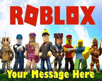 Roblox  Party ! Edible Cake Topper Edible  Frosting Sheet - Quarter , Half Sheet , Round , Strips , Cupcake
