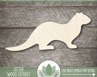 Otter Wood Shape, Wooden Otter Cutout, Laser Cut Wood Shapes, Unfinished Wood For DIY Projects, Blank Wood Shapes, Many Size Options