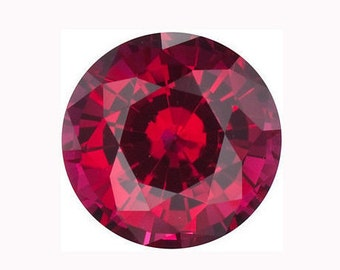 Chatham Round Ruby Lab Created Gemstones Quality Synthetic Gemstones July Birthstones