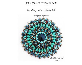 Kocheb Pendant - Beading Pattern/Tutorial - PDF file for personal use only