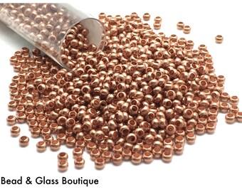 Heavy Metal Seed Bead, 11/0, Matte Copper, approx 50 grams