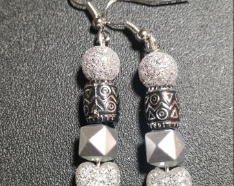 Silver Hearts Earrings