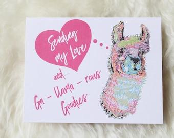 Ga-llama-rous Notecard   FibreShare Card   Love Card   Llama Card