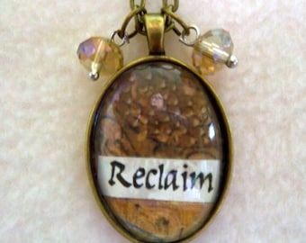 Reclaim - Healing Art Necklace, No.28
