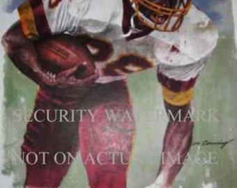 Rare Darrell Green Washington NFL Corning Print LE